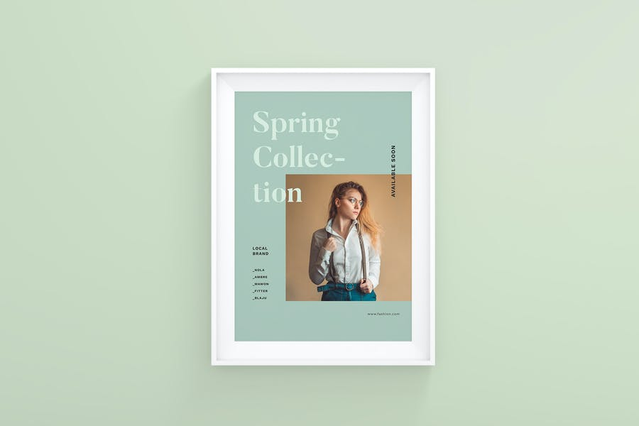 A4 Size Apparel Branding Flyer