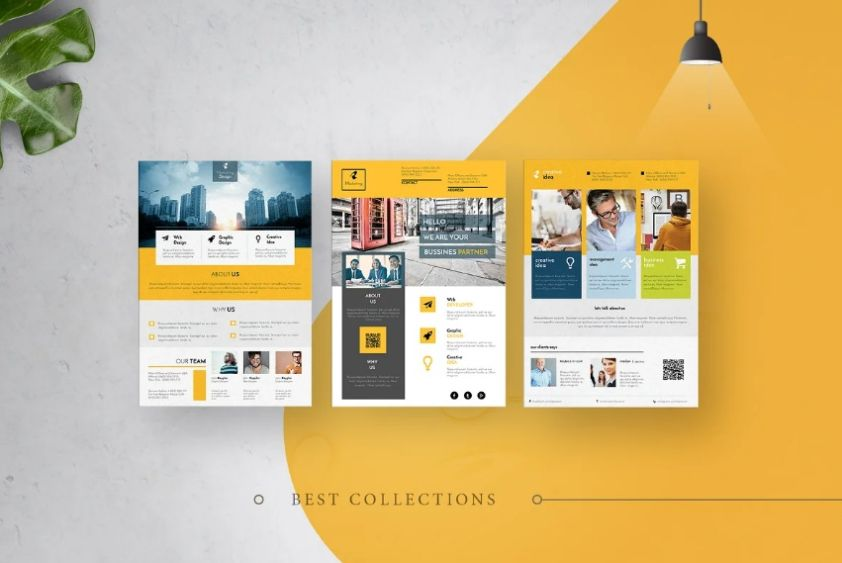 A4 Size Corporate Flyer Template