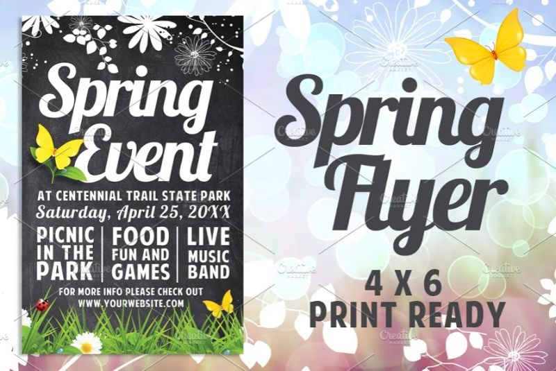 A4 Spring Event Flyers