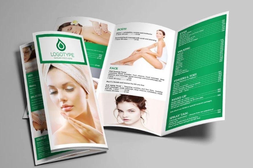 A4 Tri Fold Spa Brochure