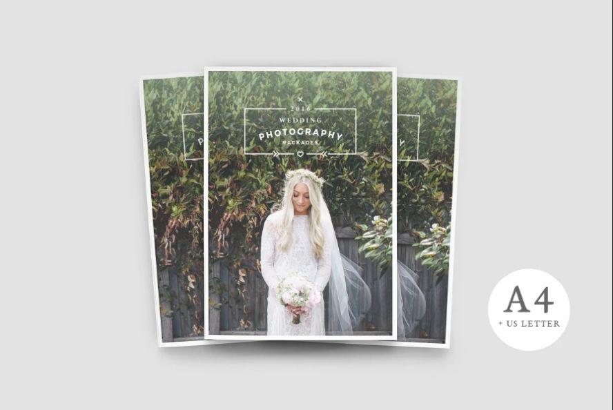 A4 Wedding Photography Brochure Template
