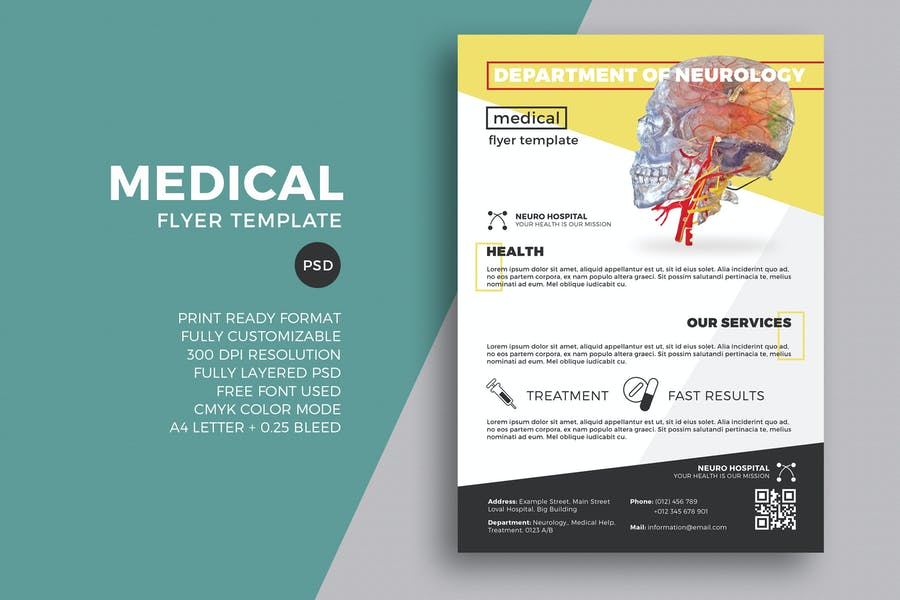 A4 and A3 Medical Flyer Templates