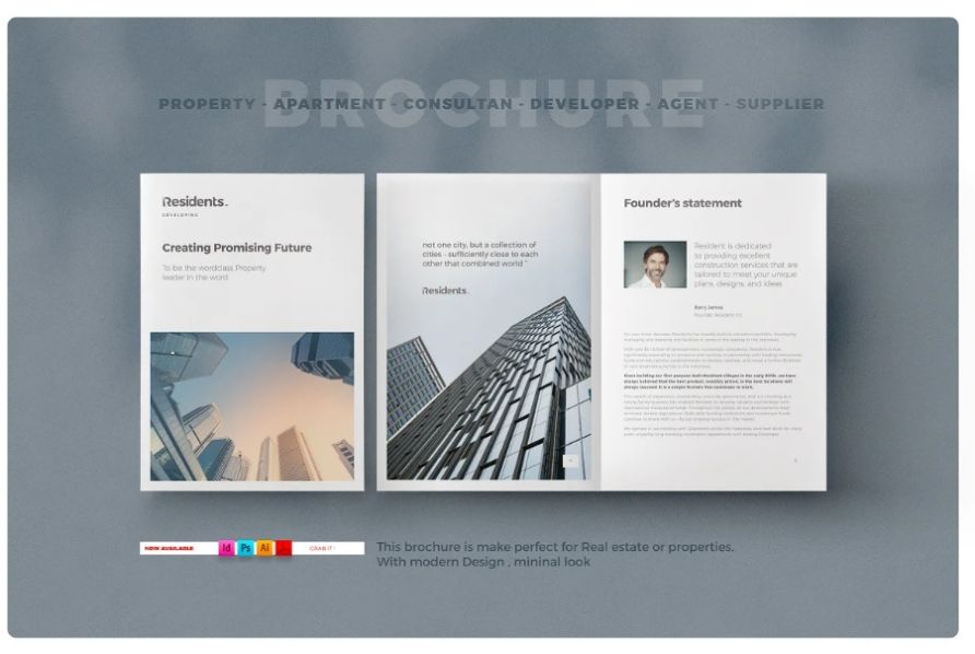 A4 and US Letter Archiect Brochure