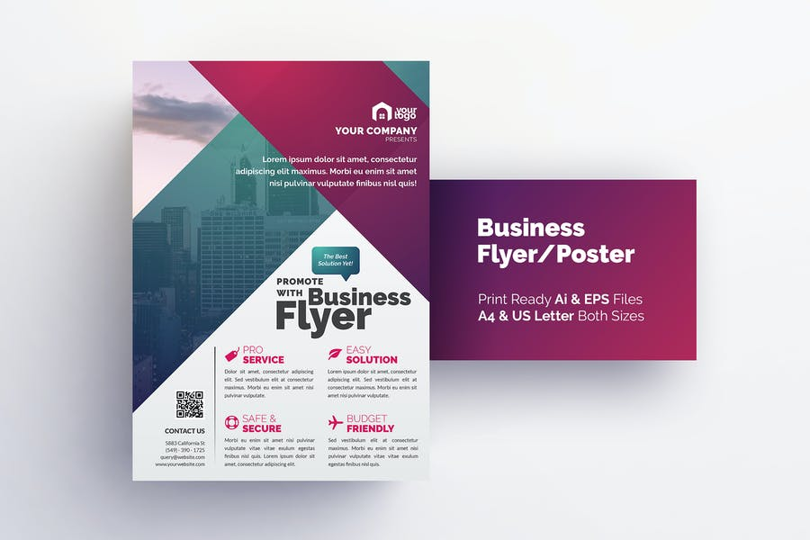A4 and US Letter Flyer Layouts