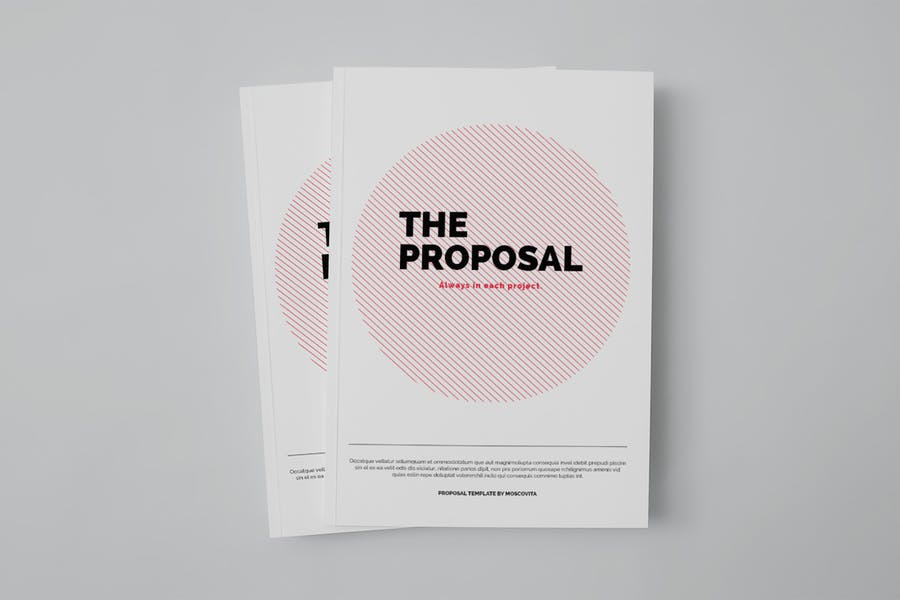 A4 and US Letter Proposal Brochure Template