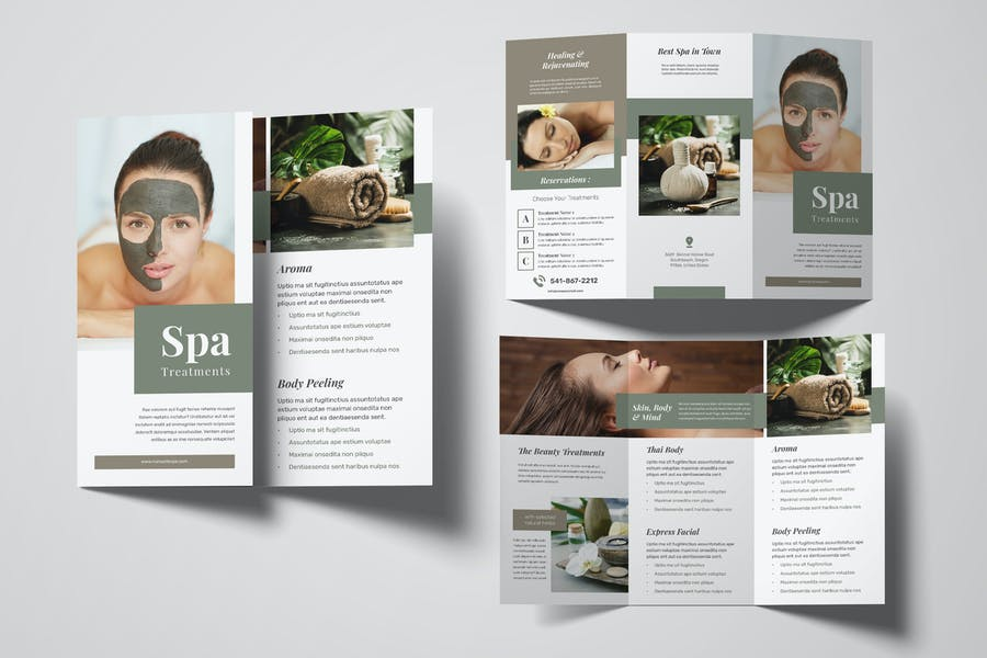 A4 and US Letter Tri Fold Brochure