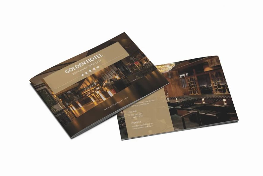 A5 Hotel Marketing Brochure Template