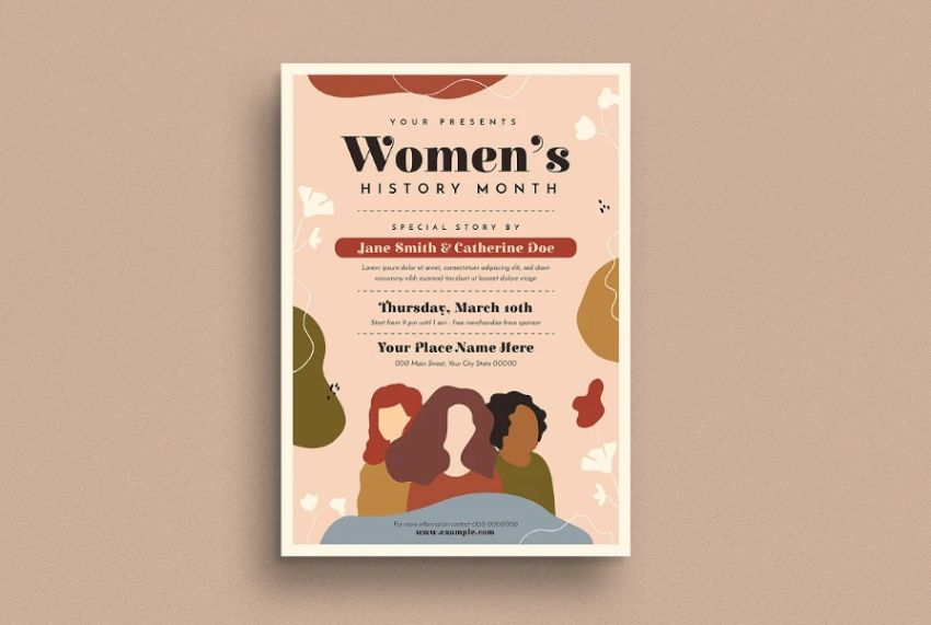 Abstract History Month Flyer