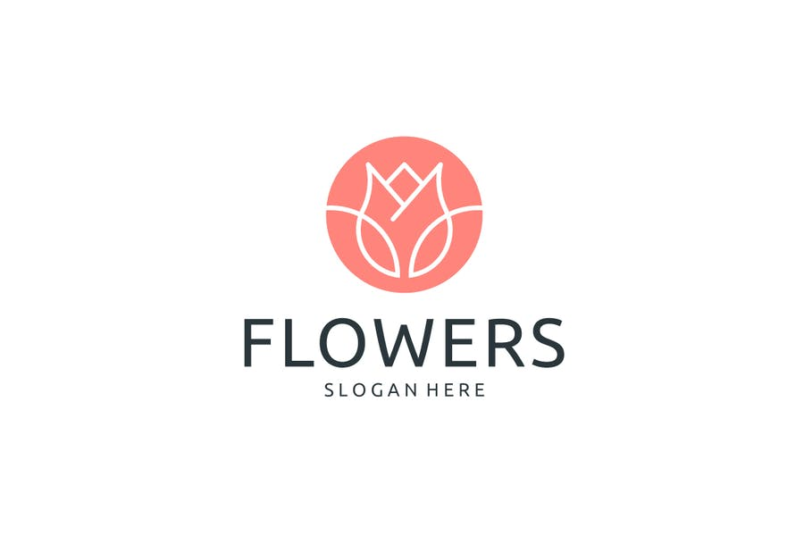 Ai and EPS Flower Logtype