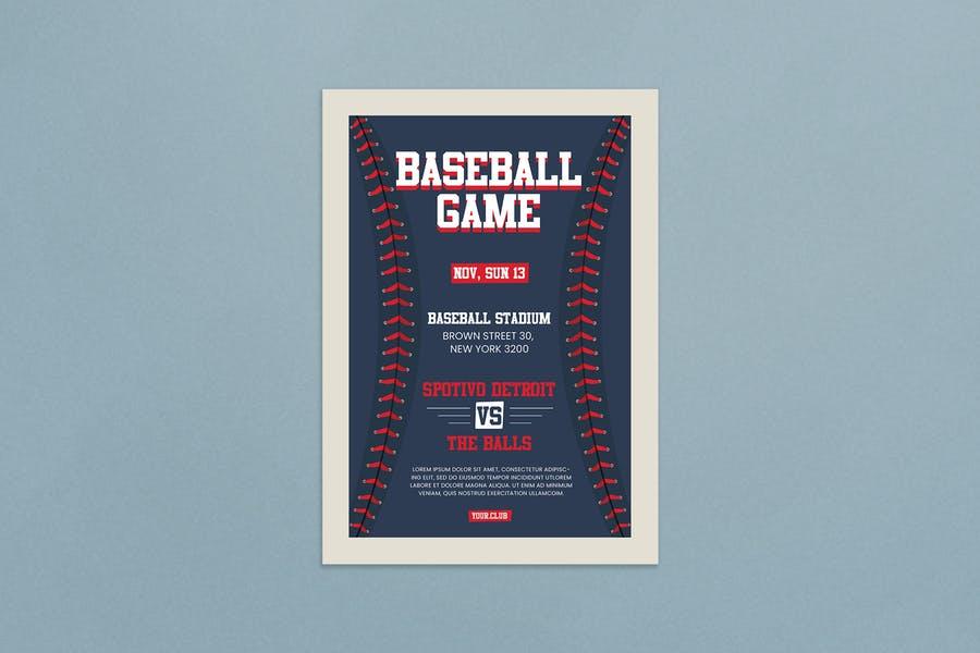 Ai and PSD Baseball Flyer Template