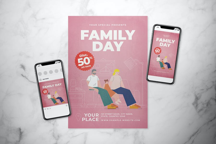Ai and PSD Family Flyer