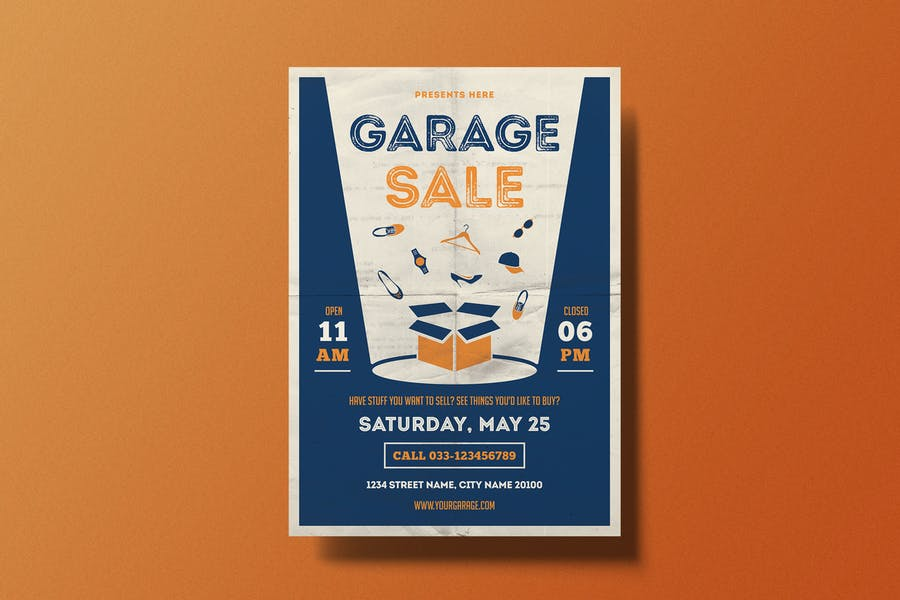 Ai and PSD Garage Sale Flyer