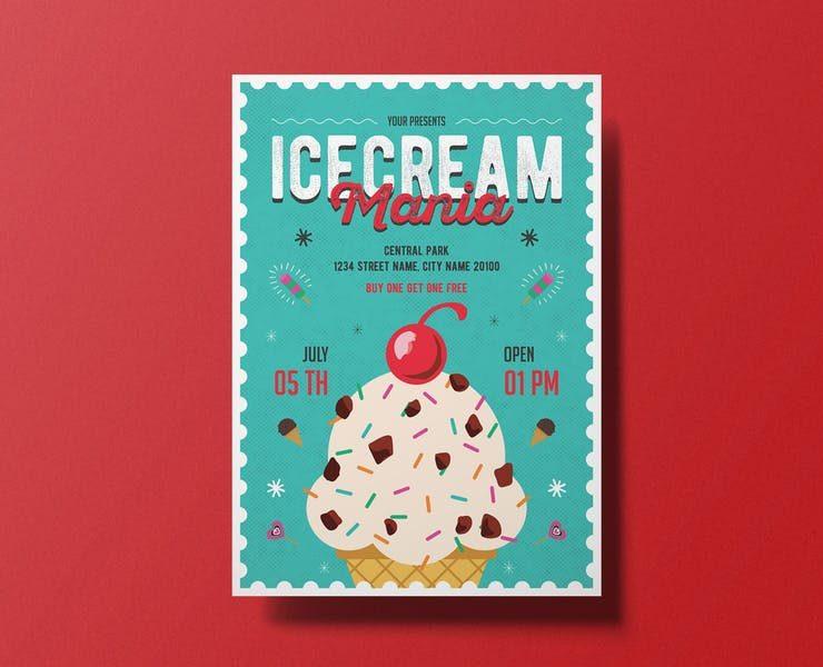 20+ Best Ice Cream Flyer Template PSD Download