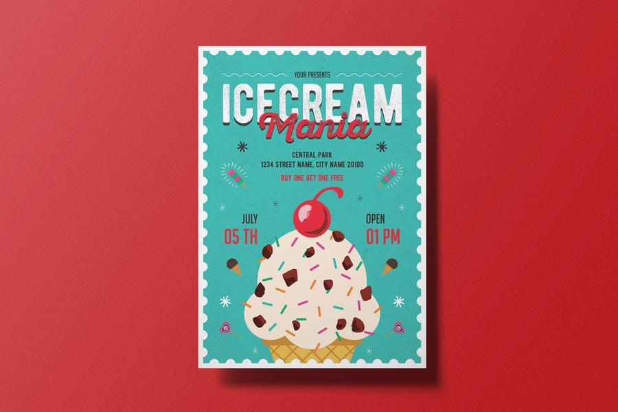Ai and PSD Ice Cream Flyer