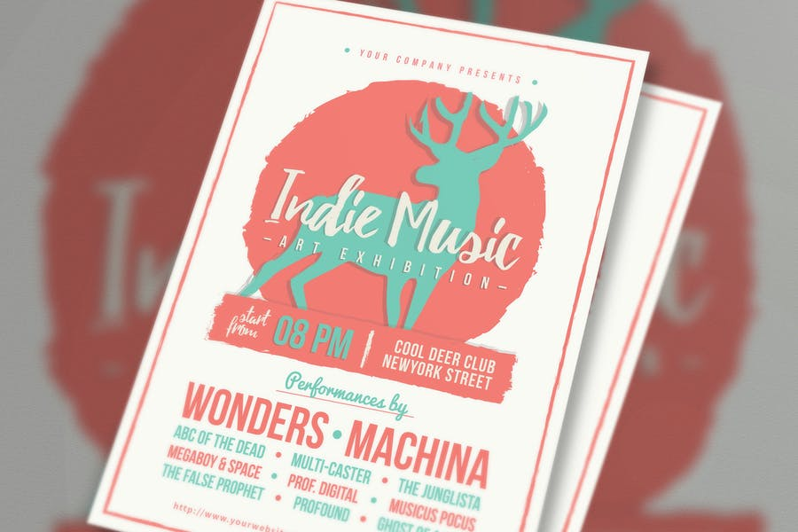Ai and PSD Indie Flyer