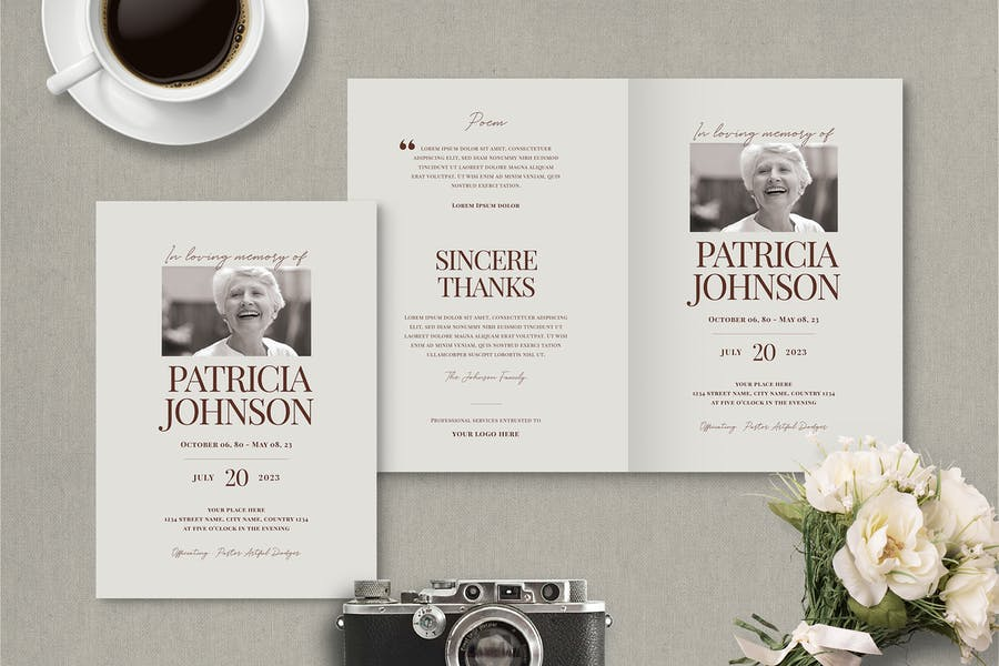Ai and PSd Funeral Brochure