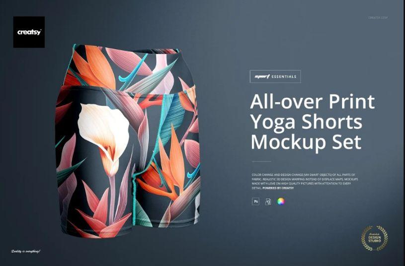 All Over Print Shorts Mockups
