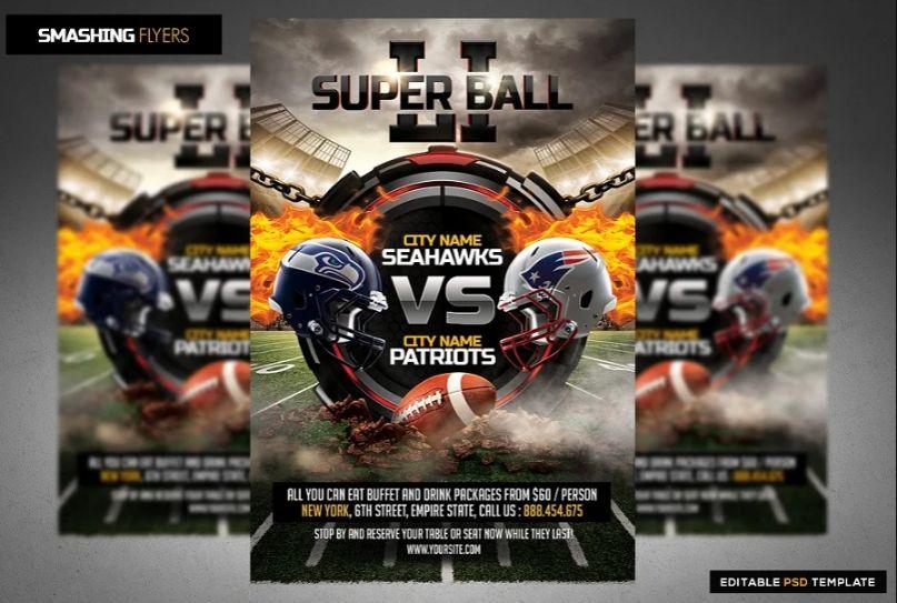 American Fotball Match Flyer