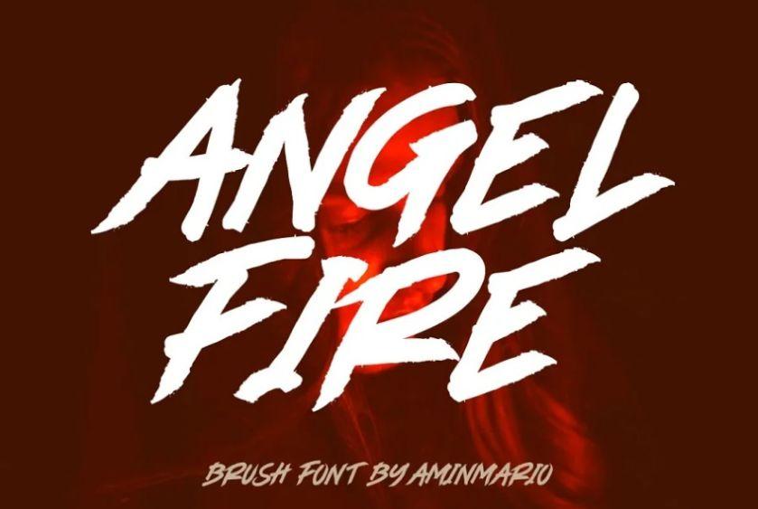 Angel Fire Brush Typeface