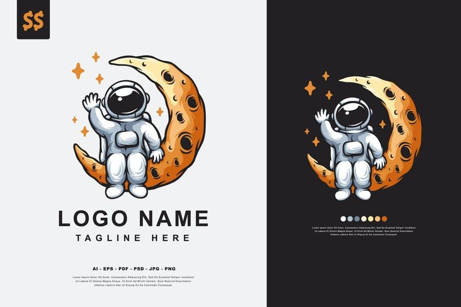 Astronaut Logo Design Ideas