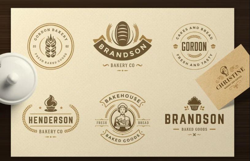Bakery Logo and Badges Set