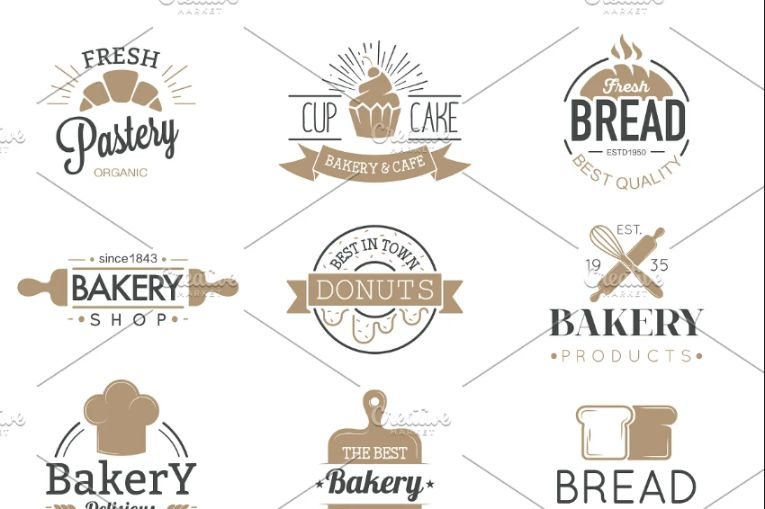 Bakery badges and Logo Design Templates