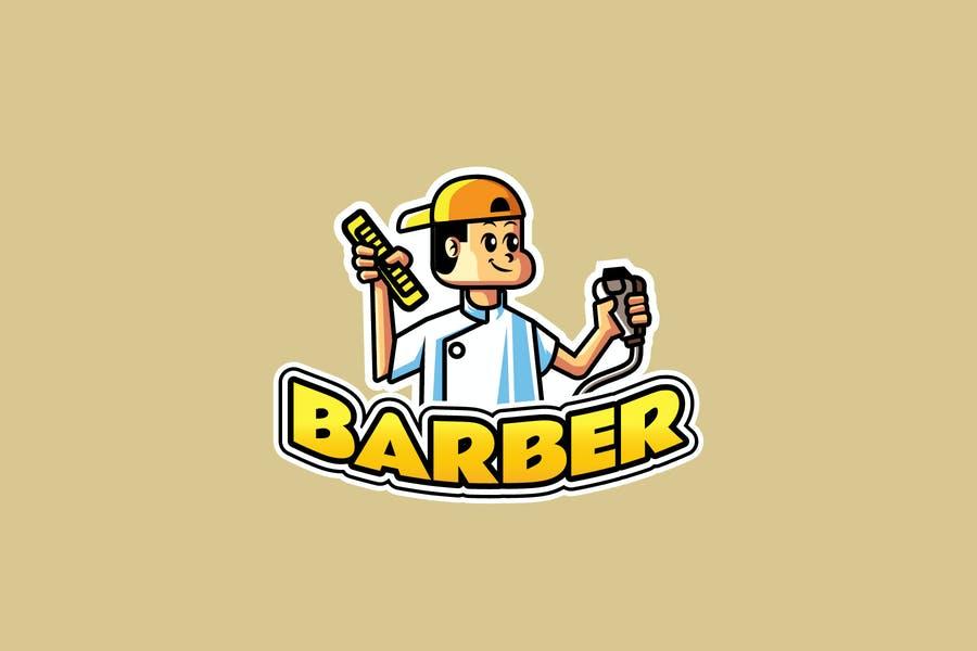 Barber Mascot Logo Template