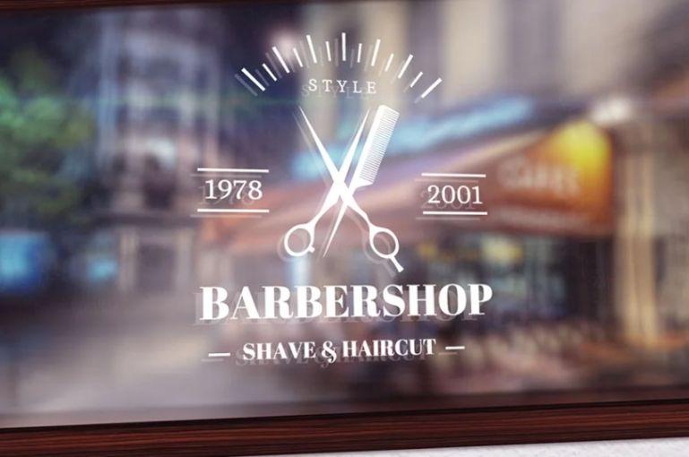 Barber Shop Logotype Elements