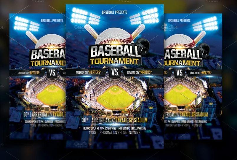 Baseball Championship Flyer Template