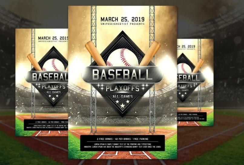Baseball Game Flyer DEsign