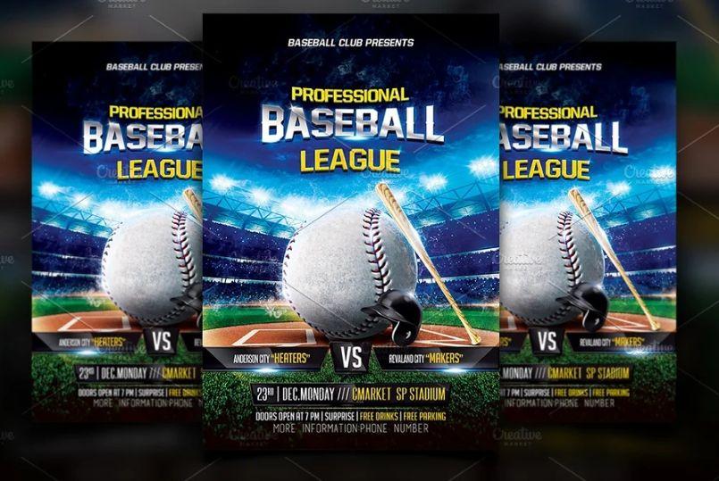 Baseball League Flyer Templates