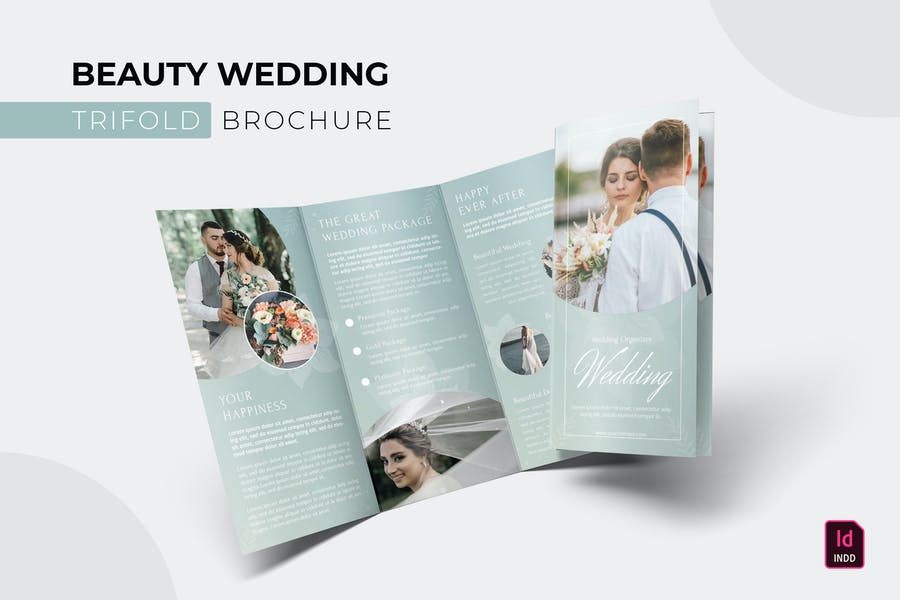 Beautiful Wedding Brochure Template