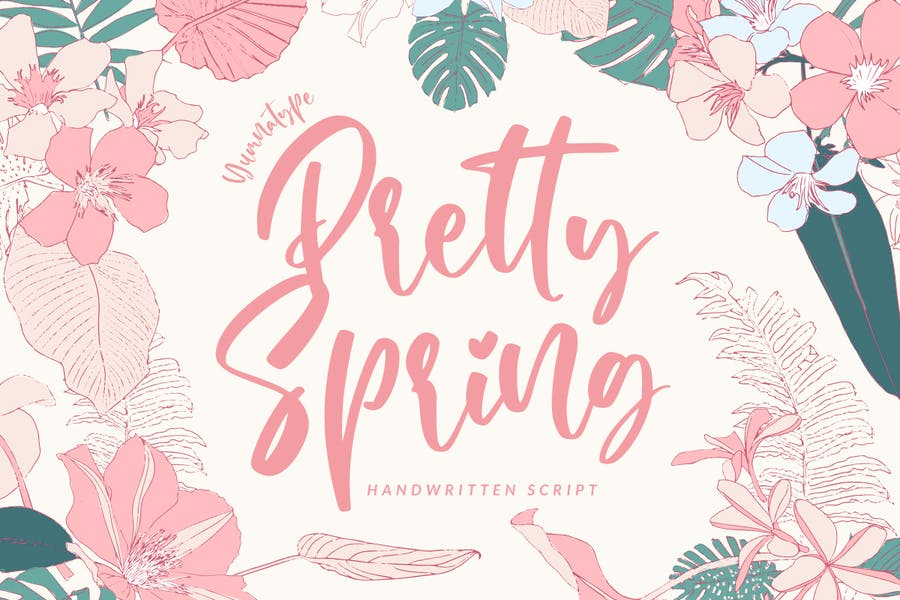 Beautiful and Spring Typeface