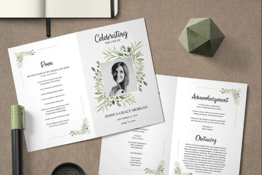 Bi Fold Funeral Brochure Template