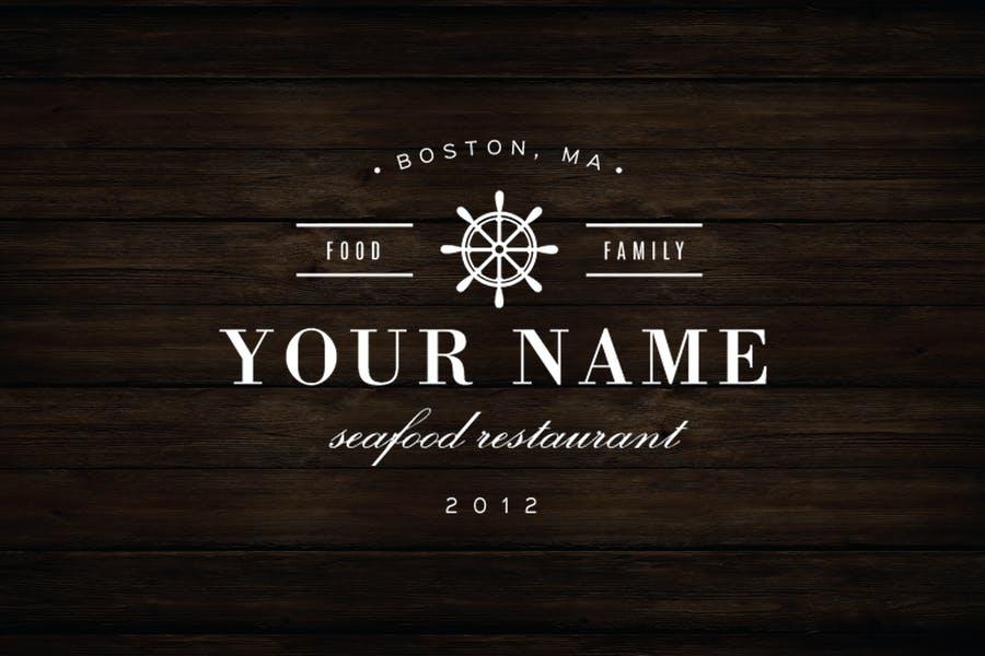 Black and White Restaurant Logo