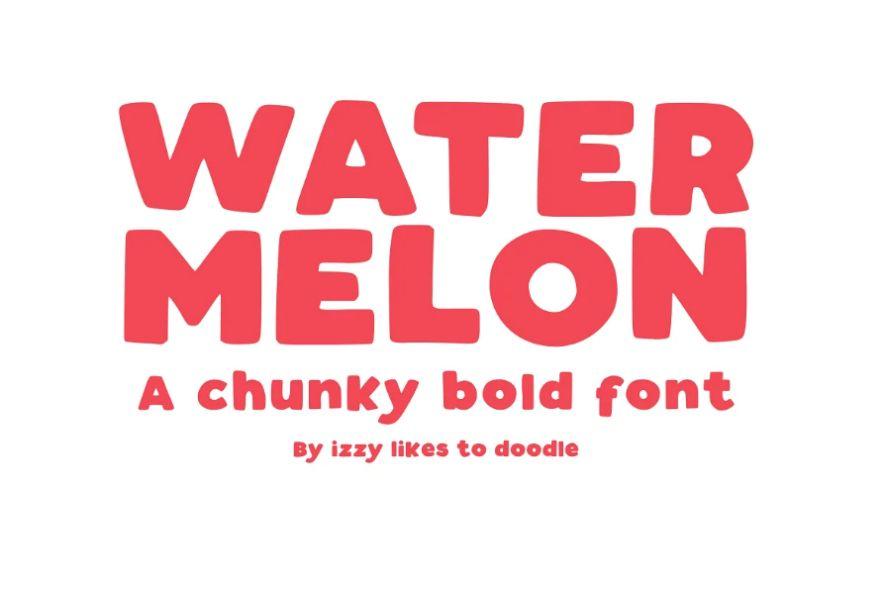 Bold Fruit Style Fonts