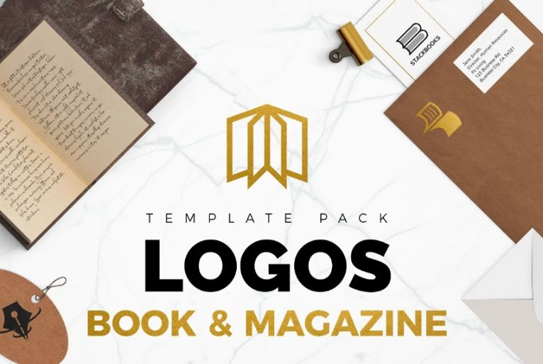 Books and Magazines Logos Pack