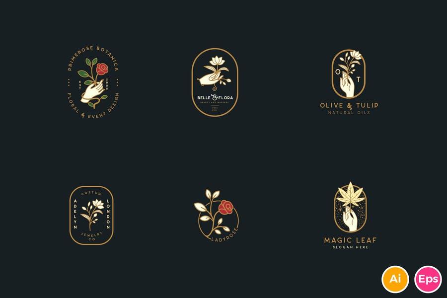 Botanical Logo Design Ideas