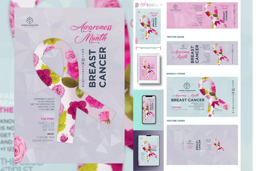 Breast Cancer Print Templates