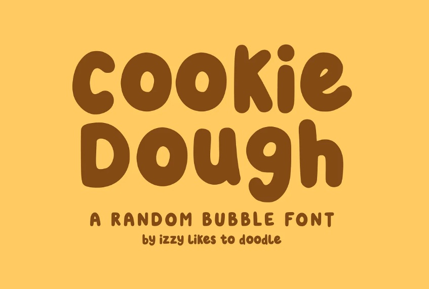 Bubble Style Food Font