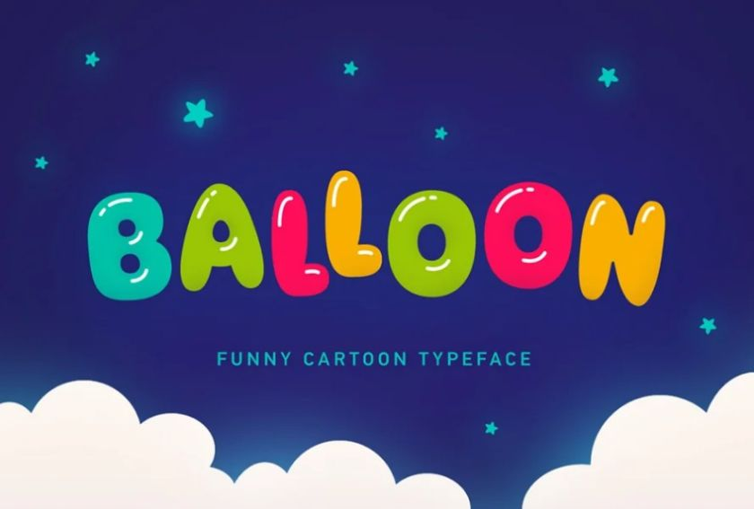 Bubble Style Typography Fonts