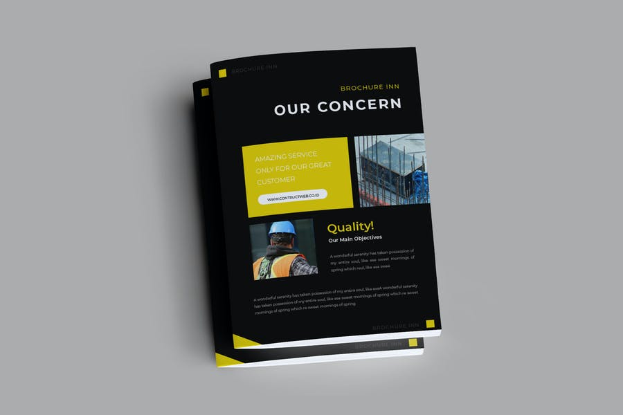 Building Construction Brochure Templates
