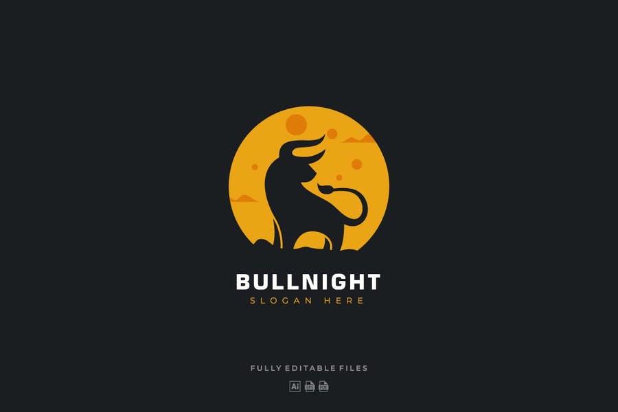 Bullnight Logo Design Template
