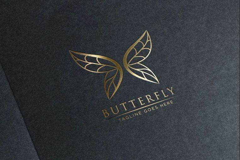 Butterfly Jewelry Logo Design