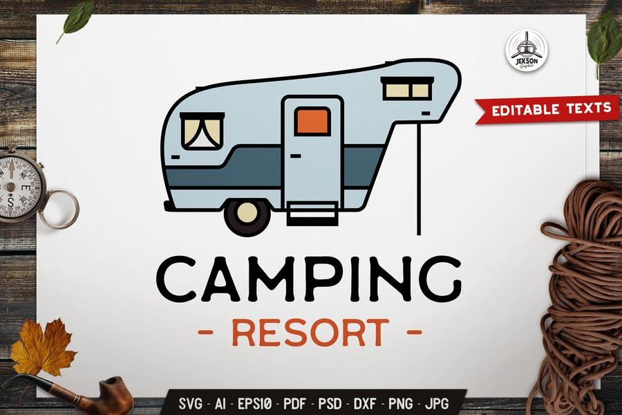 Camping Resort Logo Template