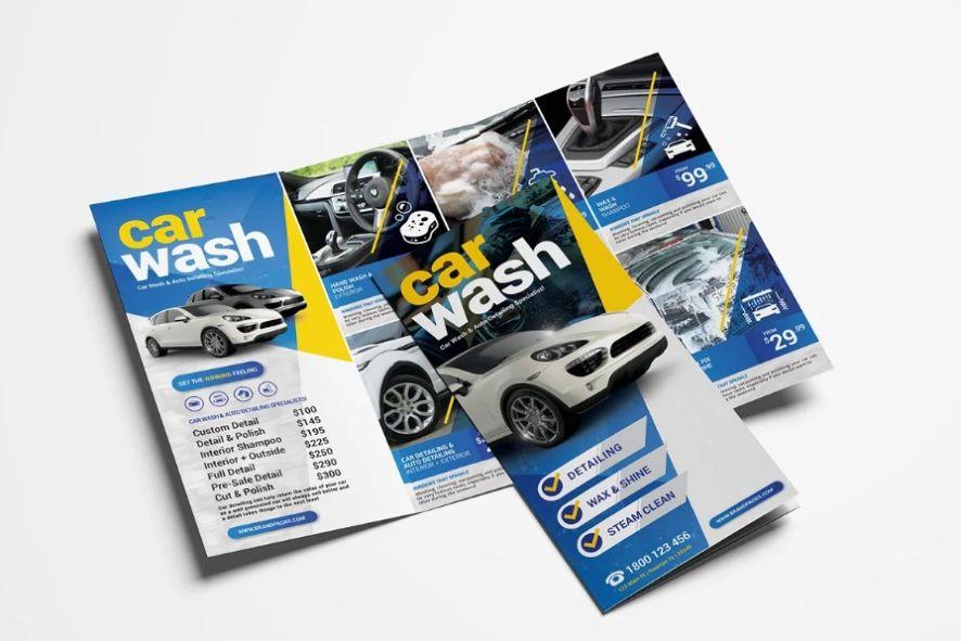 Car Wash Advert Brochure
