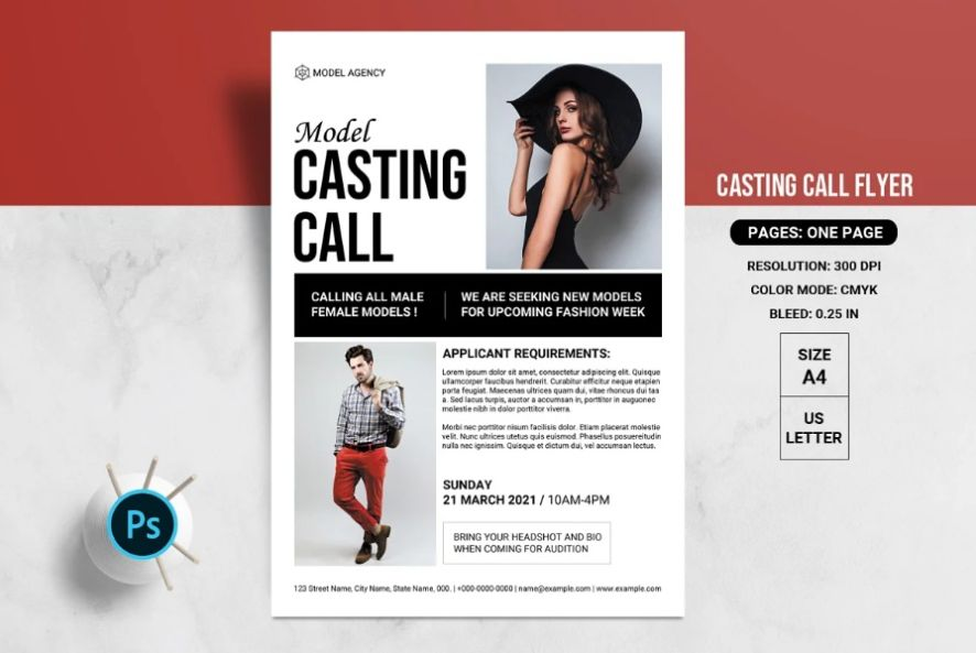 10+ Best Casting Call Flyer Template Download
