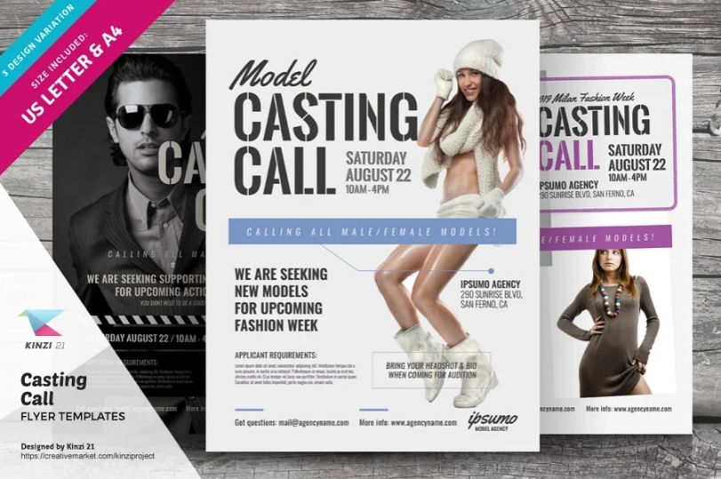 Casting Call Flyer Designs