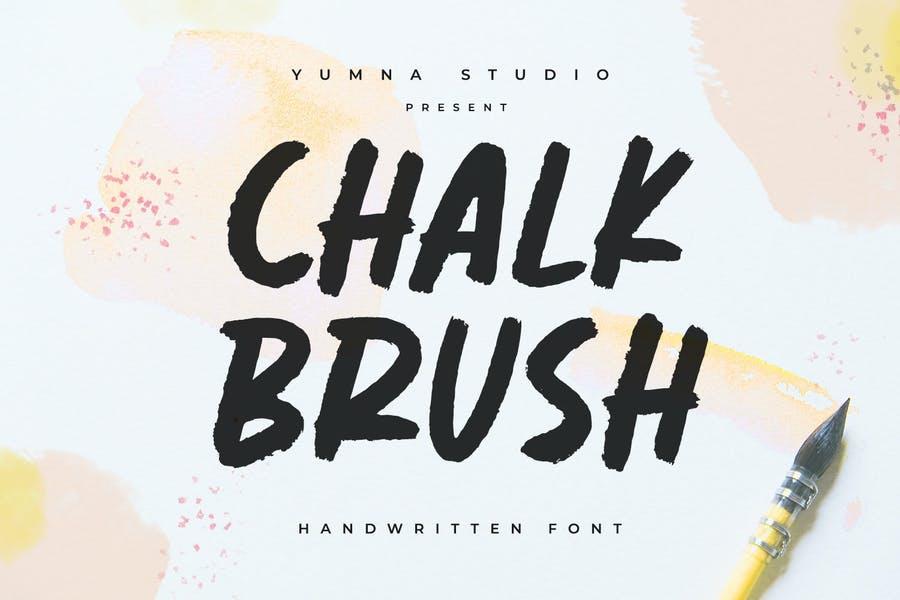 Chalk Style Brush Typeface