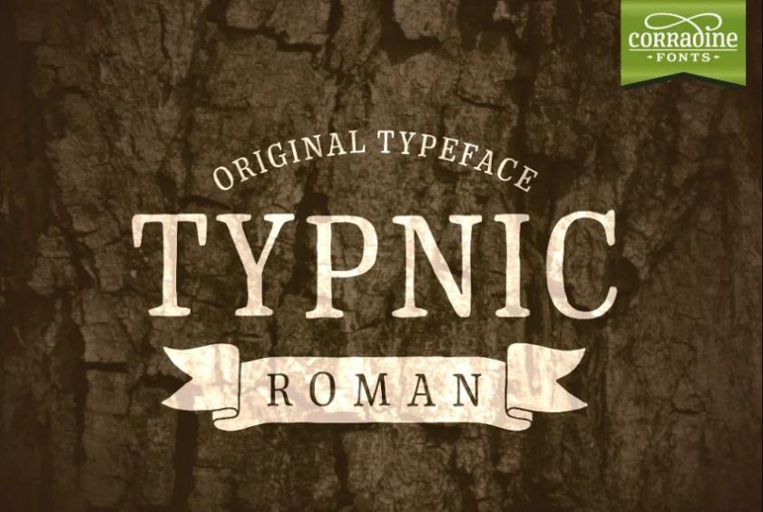 Chalk Style Roman Typeface